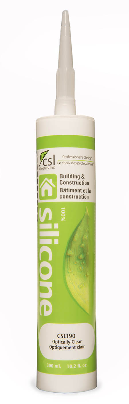 Csl190 optically clear silicone sealant adhesive for How long does bathroom silicone take to dry